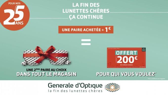 GENERALE D'OPTIQUE … Pour nos 25 ans !